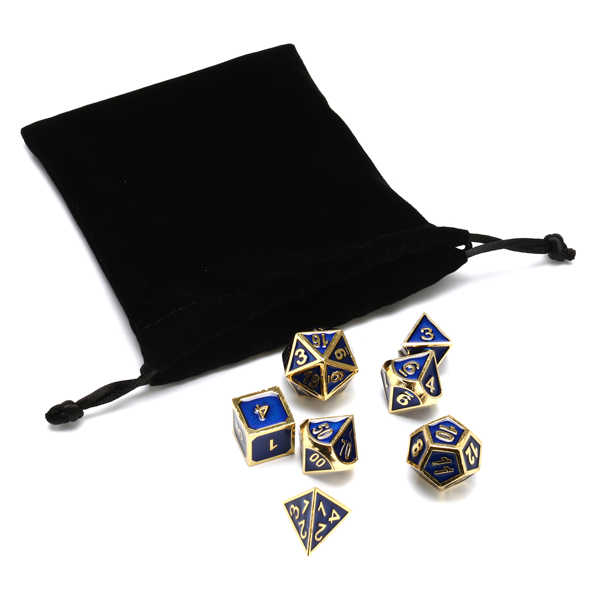 Antique Color Solid Metal Heavy Dice Set Polyhedral Dice Role Playing Games Dice Gadget RPG