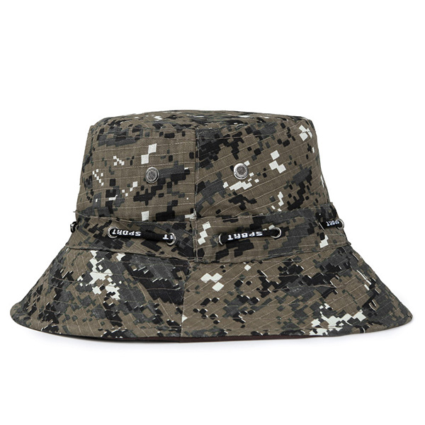 Unisex Men Women Camouflage Fishing Outdoor Hat Sunshade Breathable Bonnie Cap