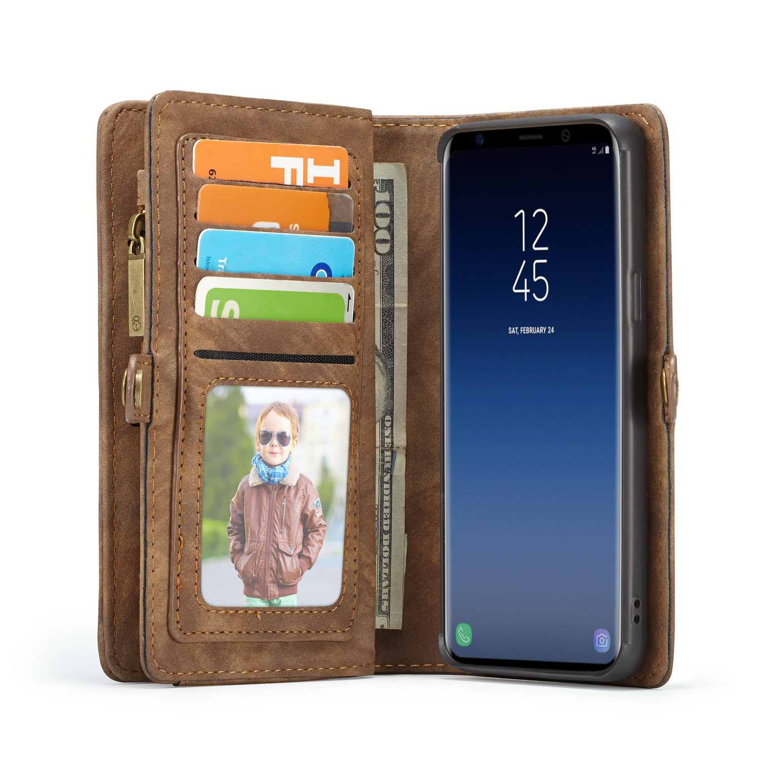 Caseme Magnetic Detachable Wallet Phone Case For Samsung Galaxy S9 Plus
