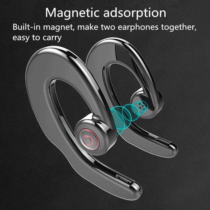 [True Wireless] S2 TWS Bone Conduction Earhooks Dual bluetooth Earphone Stereo Headphone with Mic