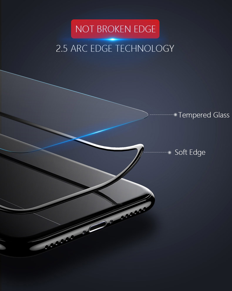 Anti Blue Light Scratch Resistant Tempered Glass Screen Protector For iPhone X