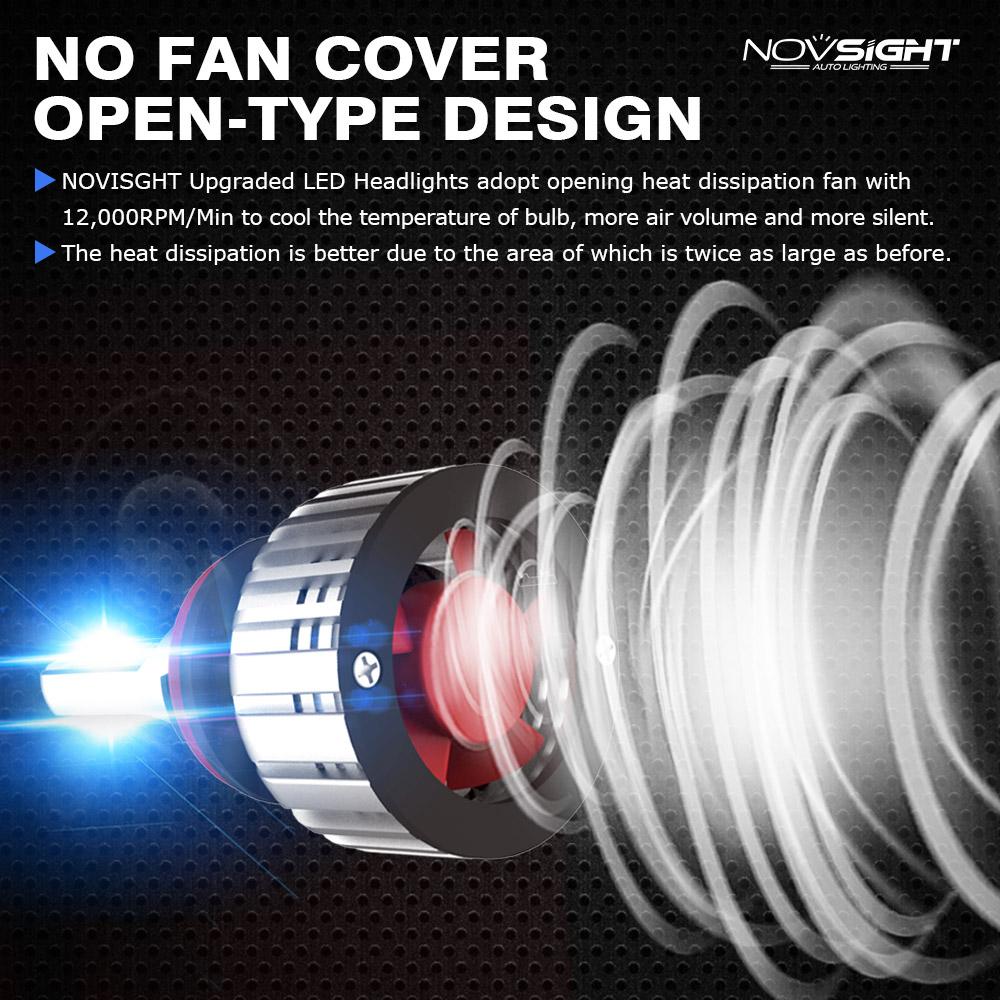 NovSight A500-N12 COB LED Car Headlights Bulbs Fog Lamps 72W 10000LM H1 H3 H4 H7 H11 9005 9006 6500K