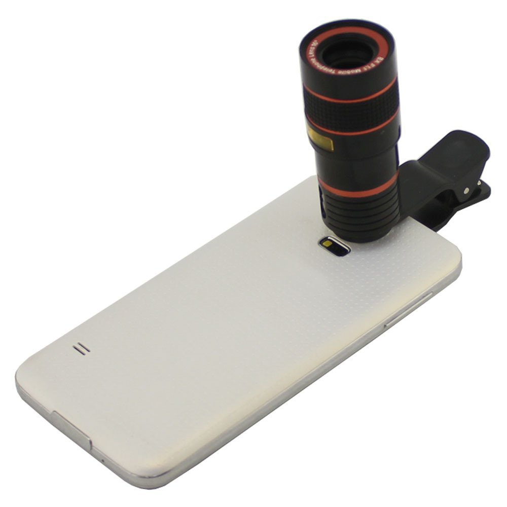 Apexel Universal 8X Zoom Telescope Clip Lens for Mobile Phone Tablet