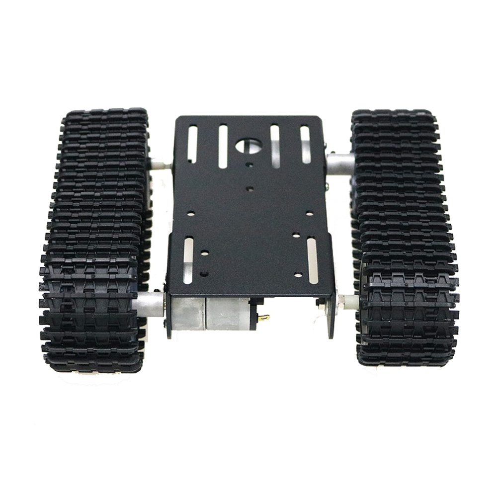 Silver/Black Mini TP101 Smart Tank Chassis Car Kit with Dual DC Motor for DIY Arduino Supprot Remote Control