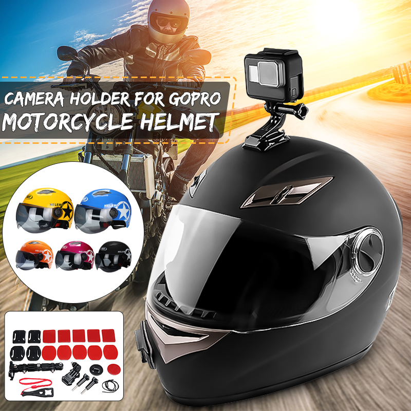 Accessory Kit Helmet Jaw Adjustable Arm Mount Holder for Gopro 6/5/4 Motorcycle