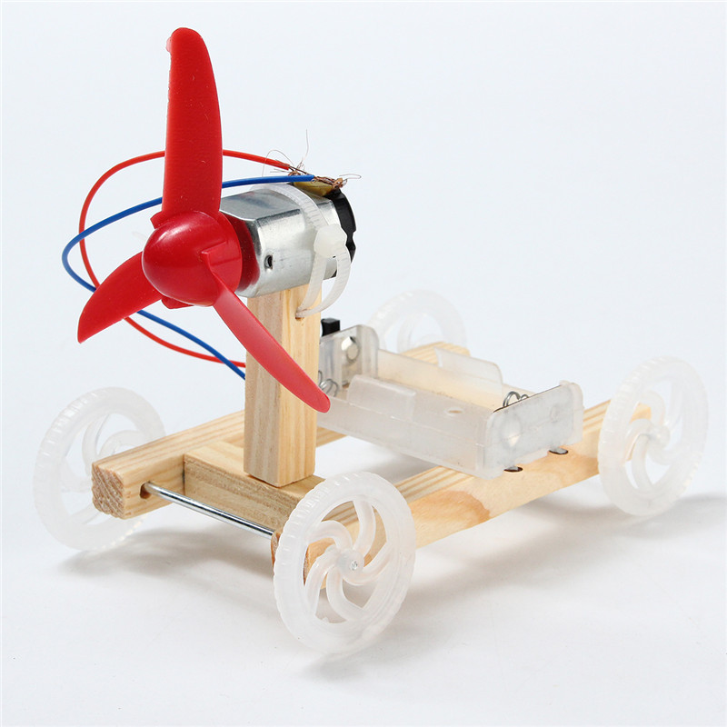 DIY Technology Invention Single-wing Wind Car Assembly Model Kit