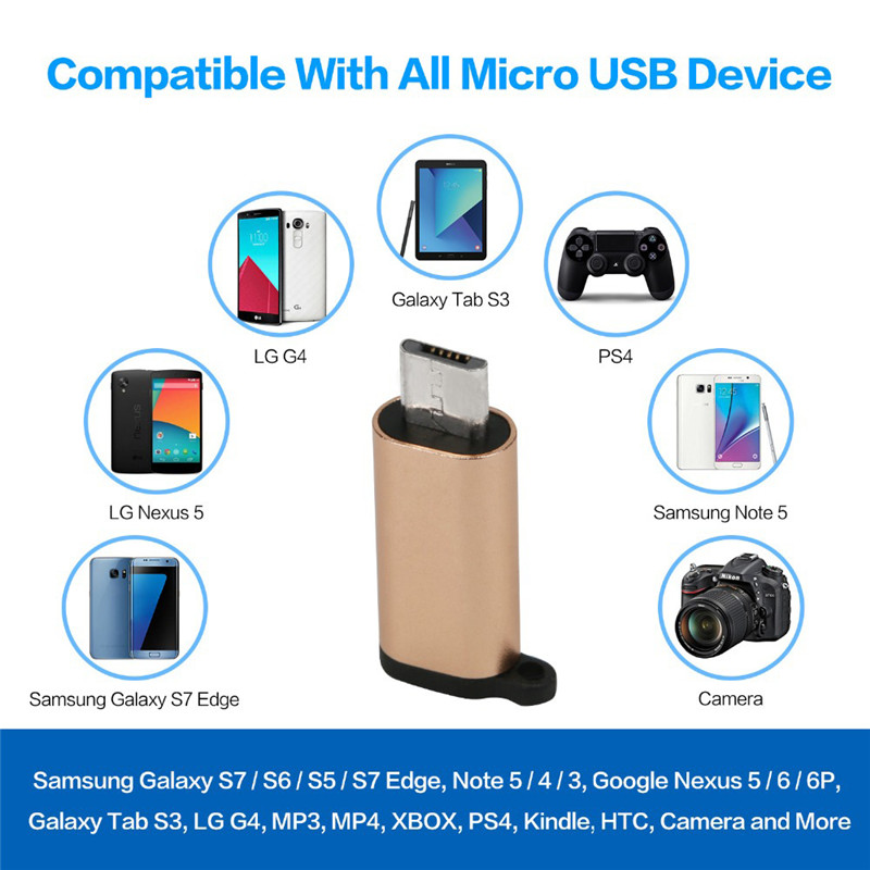 Bakeey™ Mini Type-c to Micro USB Adapter Converter for Samsung Xiaomi Mobile Phone