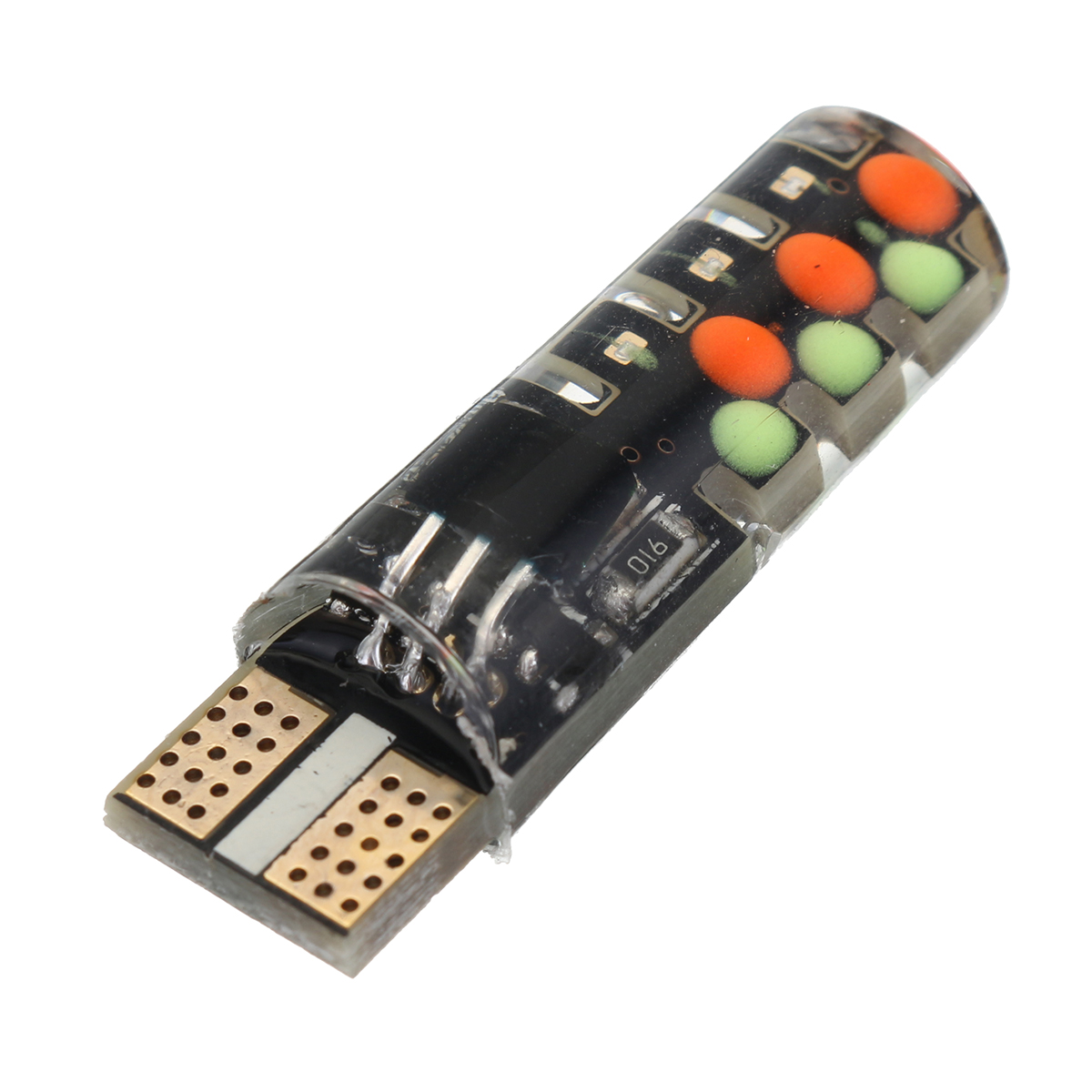 Pair T10 RGB LED Car Wedge Side Marker Lights Flashing Lamps Kit with Remote Controller