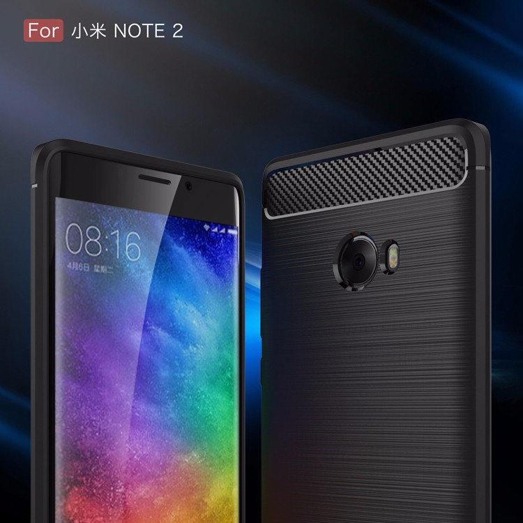 Simple Drop-resistance Soft Silicone TPU Back Case For Xiaomi Mi NOTE 2