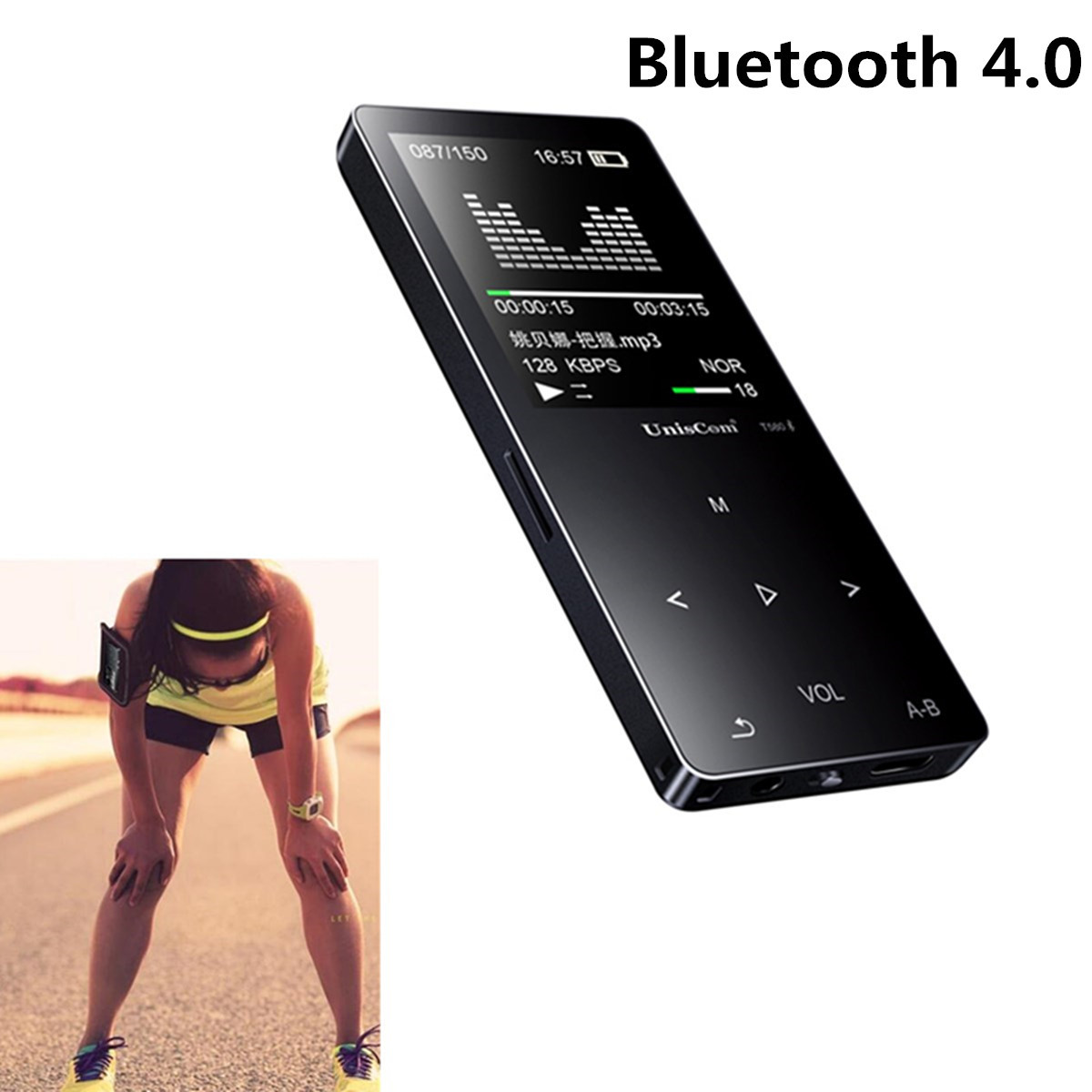 Uniscom 8G 1.8 Inch Screen bluetooth Lossless HIFI MP3 Music Player Support A-B Repeat Voice Record
