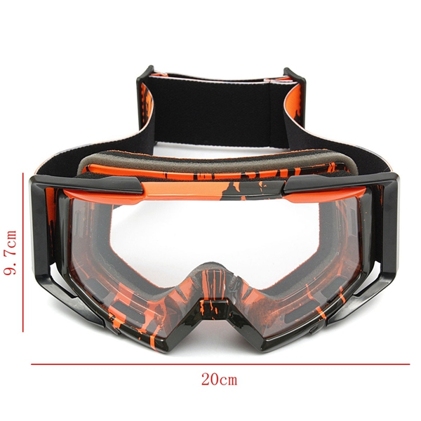 Motocross Helmet Clear Goggles Racing Windproof Eyewear For Motorcycle Off Road ATV Quad Dirt Bike
