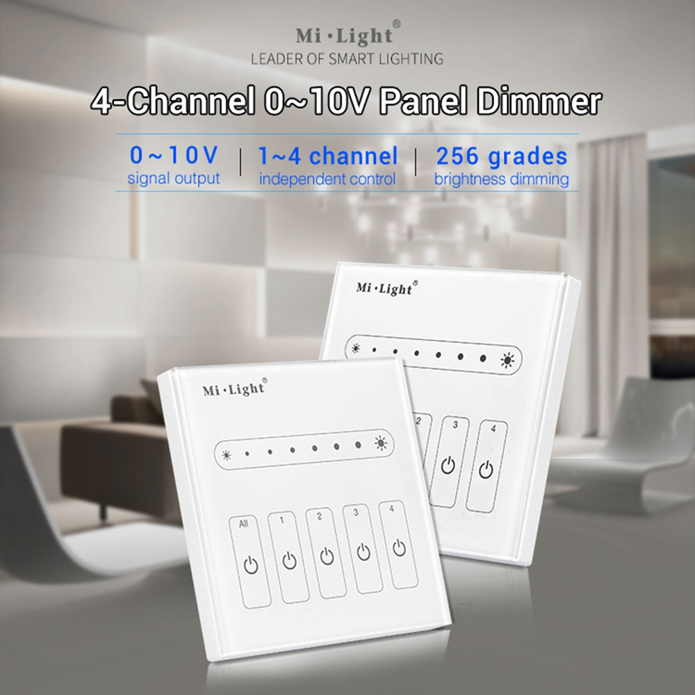 Millequattro L4 AC100-240V a 0-10V 4 canali Touch Panel monocromatico LED Controller dimmer per luci