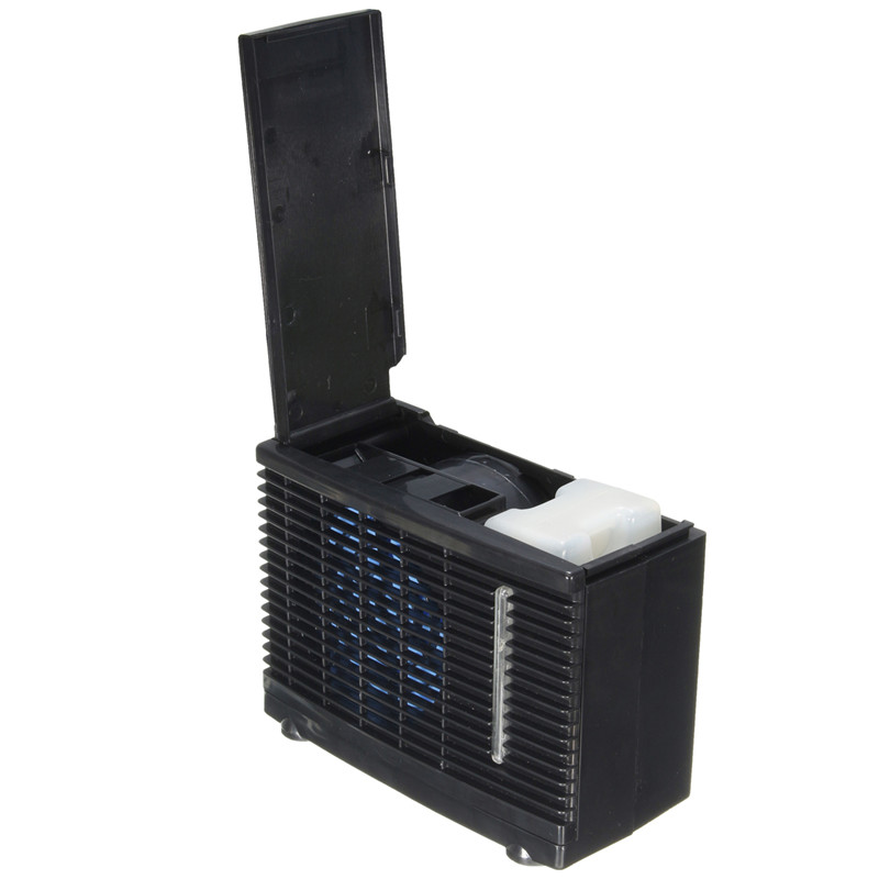 12V/24V 35W Dual Input Mini Air Cooler Fan Water Ice Evaporative Portable Air Conditioner For Summer Home Car Cooling