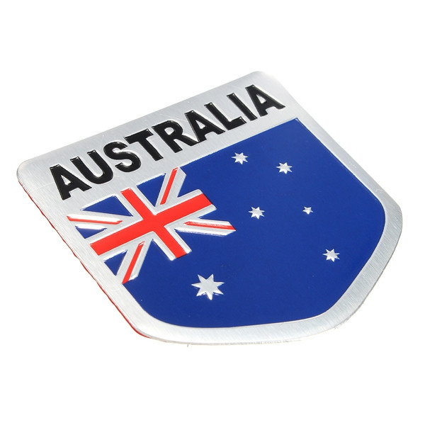Aluminum Alloy 3D Badge Austrlia Australian Flag Pattern Sticker Emblem Decal Decoration
