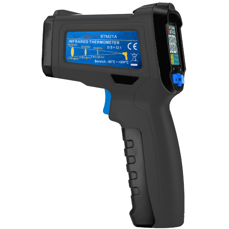 BSIDE BTM21A -30-300℃ Handheld Non Contact Infrared Thermometer Color Liquid Crystal Display Digital Temperature Meter Gun