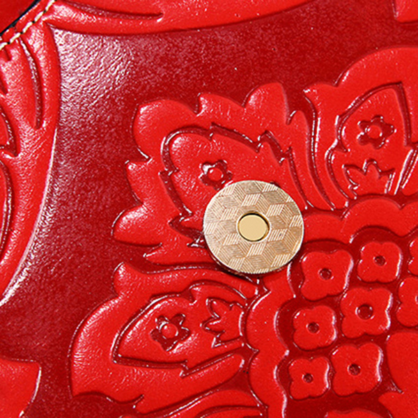 Vintage Chinese Style Embossed Floral Women Tote Bag