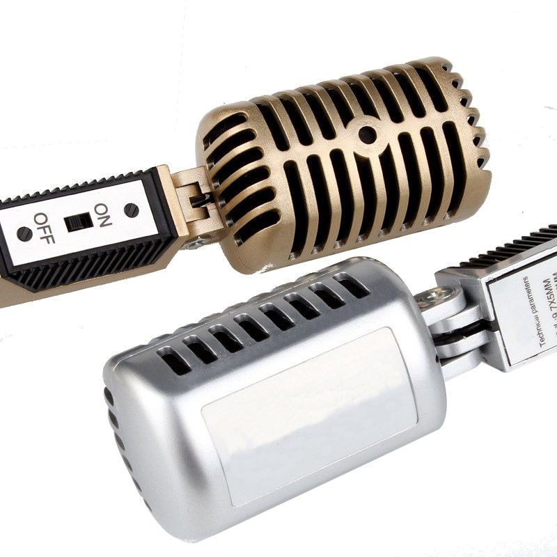 Mini 3.5mm Stereo Recording Desktop Sing Chatting Karaoke Microphone For Computer Laptop