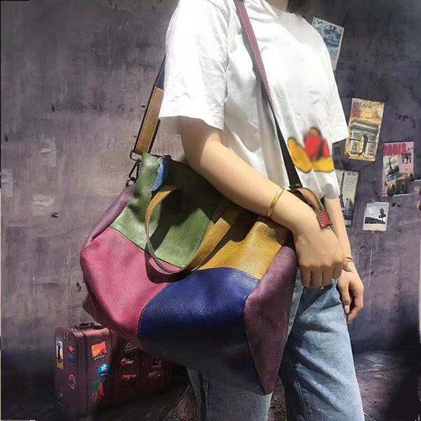 Women Genuine Leather Cowhide Handbag