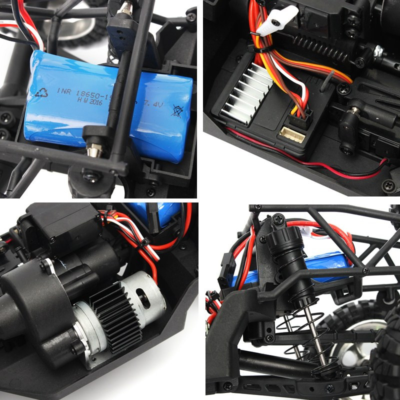 HBX 12889 1/12 2.4G 4WD RC Truggy Thruster Off Road Desert Truck Two Speed Mode RC Car