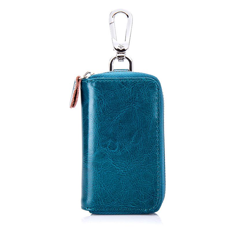 Men Women Genuine Leather Car Key Case Key Holder Waist Bag