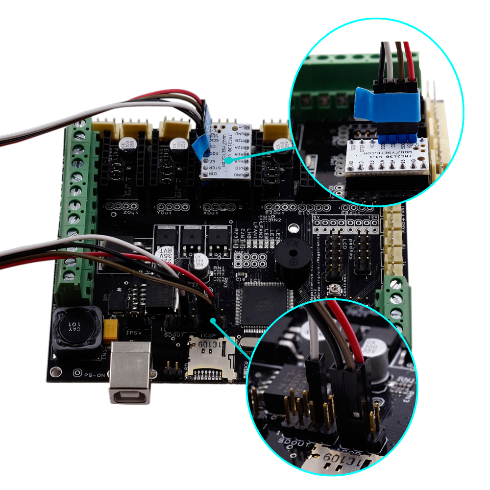Ultra-silent TMC2130 V1.1 Stepper Motor Driver Module SPI With Plug Type Stepstick Smoother Kit For 3D Printer Board
