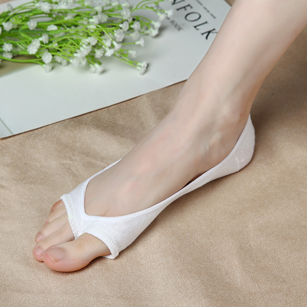 Women Cotton Peep Toe Shoes Socks Low Cut Invisible Ankle Liner Socks