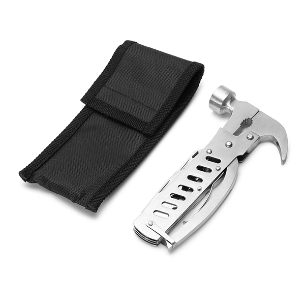 Multi-function Hammer Saws Bottle Opener Plier Stainless Steel Outdoor Camping Travel Hand Tools