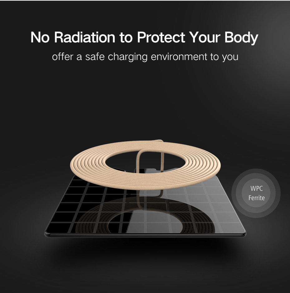 ZT8 10W QI Wireless Charging Charger Pad For iphone X 8/8Plus Samsung S8
