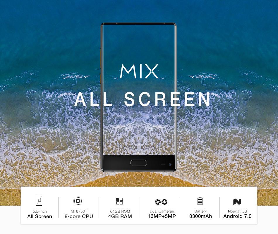 UlefoneMIX5,5-дюймовыйэкранAll4GB RAM 64GB ПЗУ MT6750T Octa core 4G Смартфон