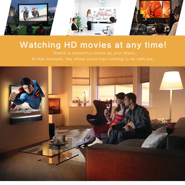 GIGXON G-8005B 1200 Lumens 800x480 Resolution Portable LCD LED Home Theater Projector