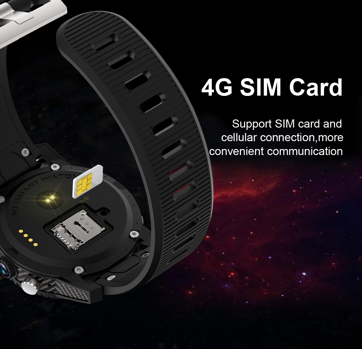 Bakeey I7 1.39 inch Amoled 4G LTE 1GB+16GB Heart Rate GPS WIFI Android 7.0 Camera Smart Watch Phone