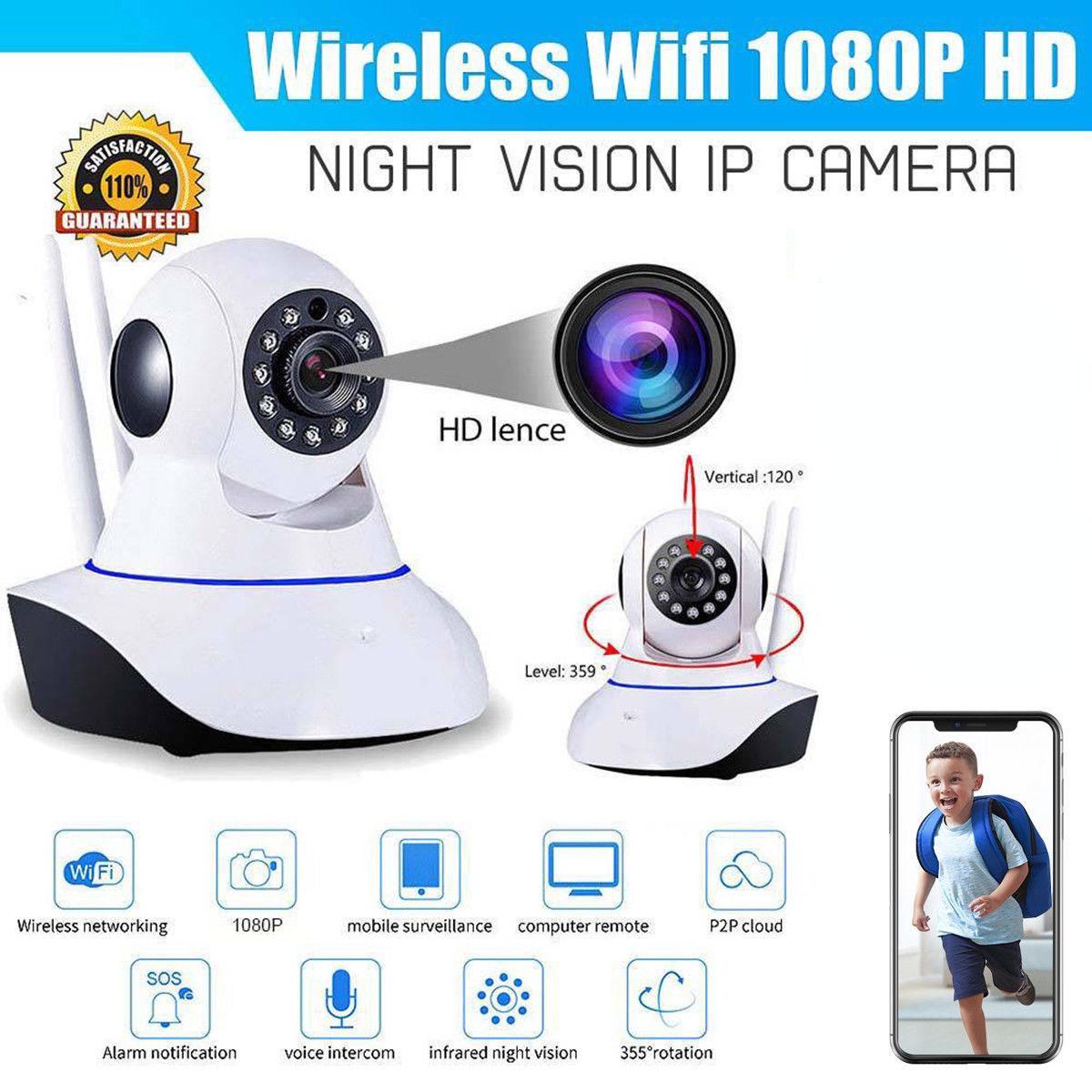 WIFI 1080P P2P Indoor Wireless IR Cut Security Baby IP Camera Night Vision US