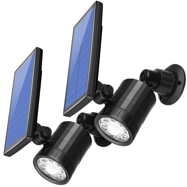 ARILUX® AL-SL15 Solar 8 LED PIR Motion Sensor Spotlight Outdoor Waterproof Wall Light with 4 Modes