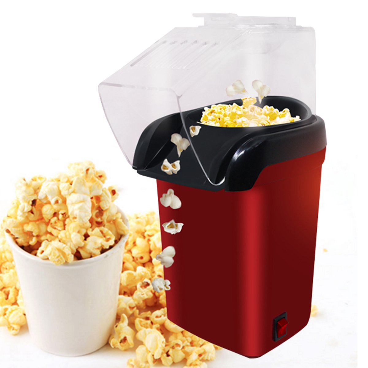 Mini Household Healthy Hot Air Oil-free Popcorn Maker Home Kitchen Machine Tools
