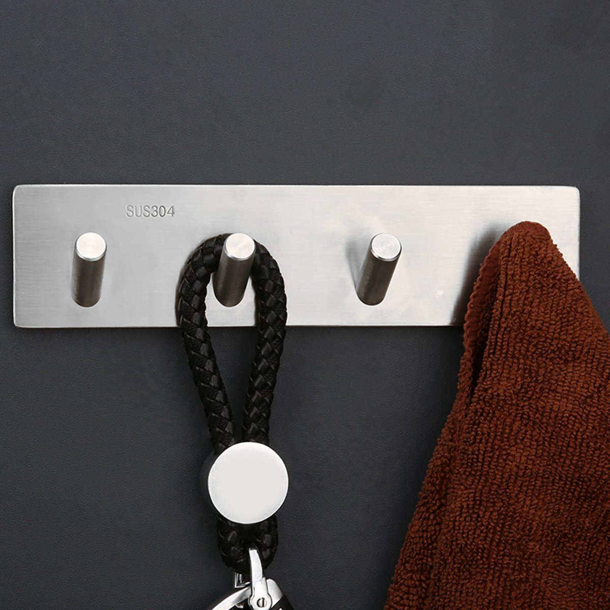 Kitchen Self Adhesive Sticky Hook Home Door Wall Hanger Rack for Towel Clothing