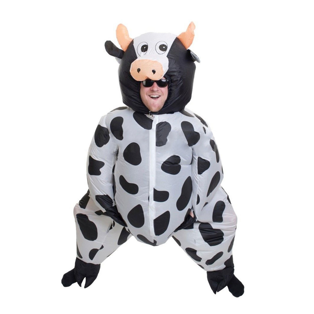 SUMO Fancy Dress Cosplay Performance Fan Inflatable Cows Toys Costume Suit Christmas Party 170cm