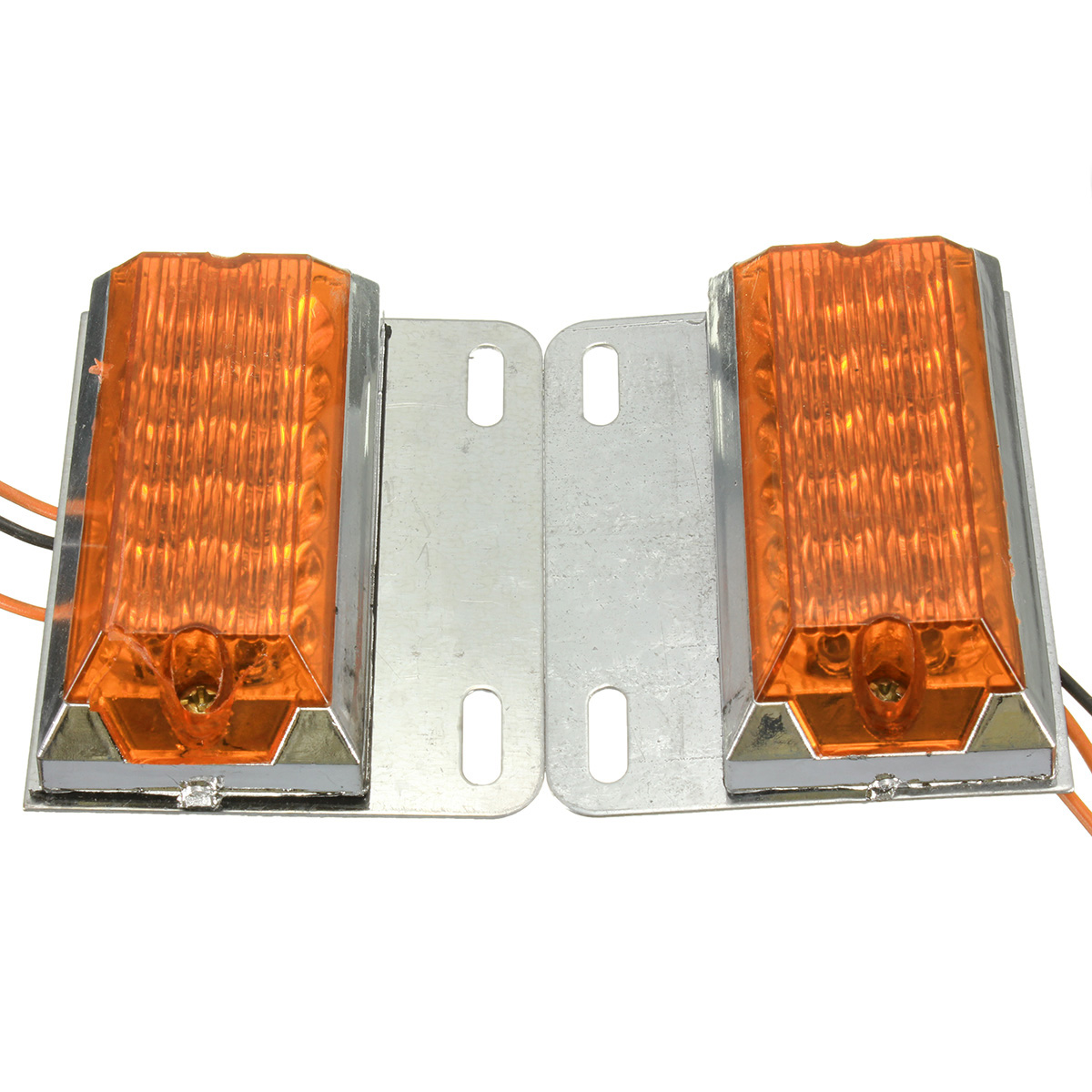 Pair 12V 12-LED Side Marker Indicator Light Lamp Commercial Trailer Truck Pickup