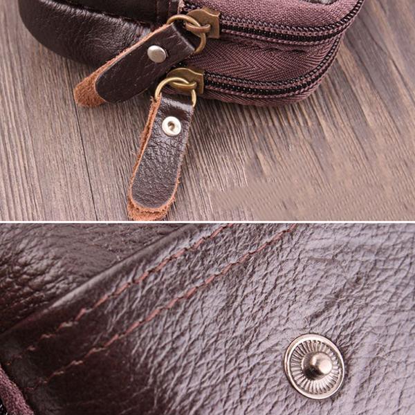 Vintage Genuine Leather 5.5 Inch Phone Bag Waist Bag