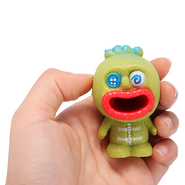 Novelties Toys Pop Out Alien Squishy Stress Reliever Fun Gift Vent Toys Big Mouth Slime