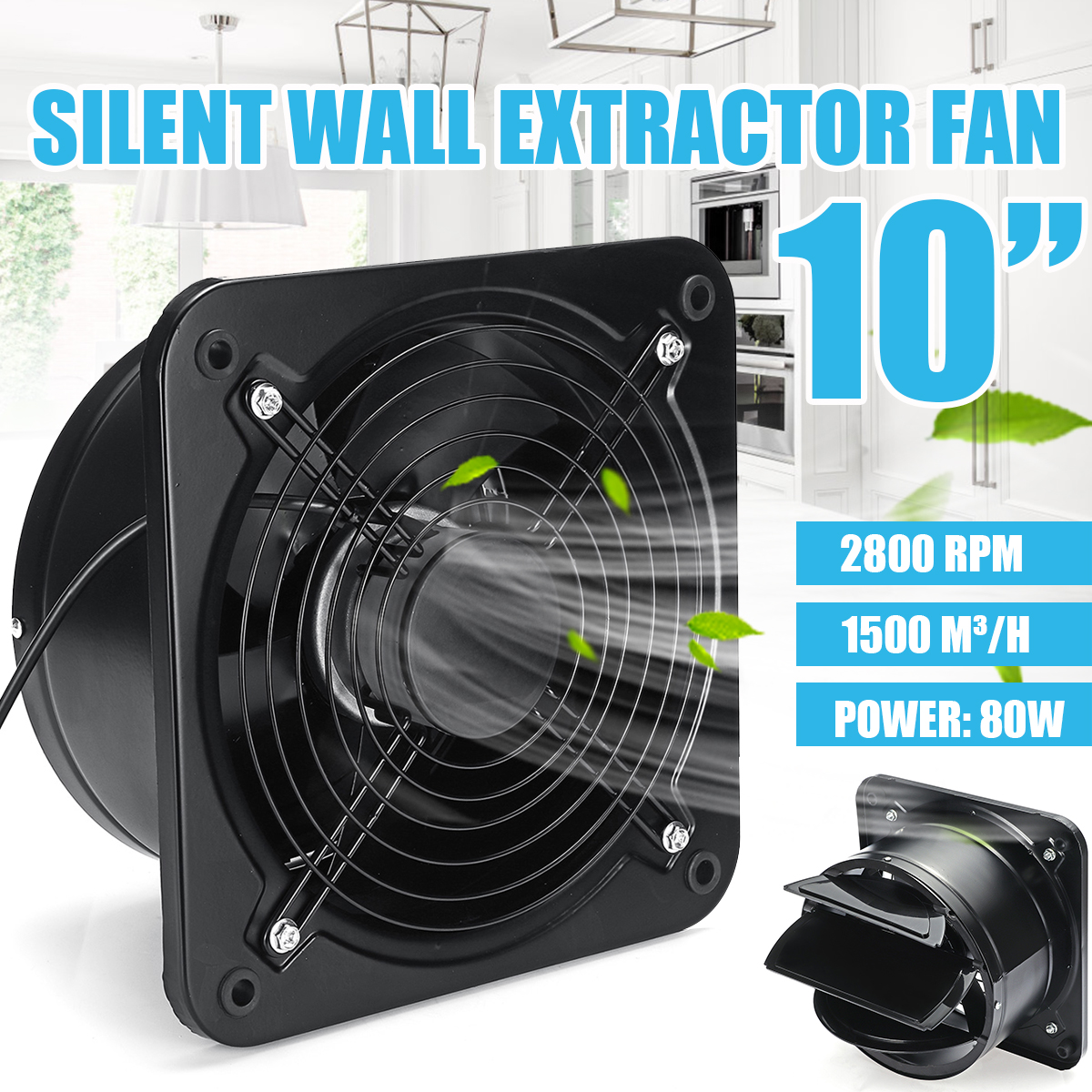 10 inch extractor ventilation fan exhaust air blower high speed rh banggood com