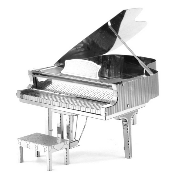 DIY 3D Puzzle Stainless Steel Assembled Model Piano Sil
