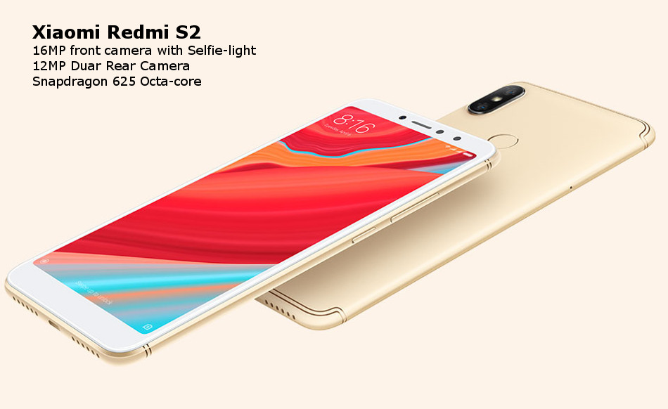 Xiaomi Redmi S2 Global Version 5.99 inch 4GB RAM 64GB ROM Snapdragon 625 Octa core 4G Smartphone
