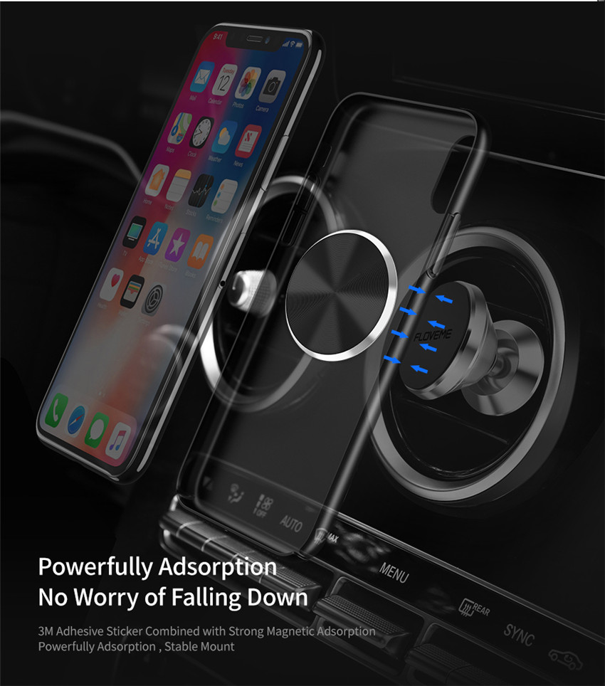 Floveme 1PCS Ultra Thin Strong Adhesive Metal Plate Accessory for Magnetic Car Phone Holder Stand