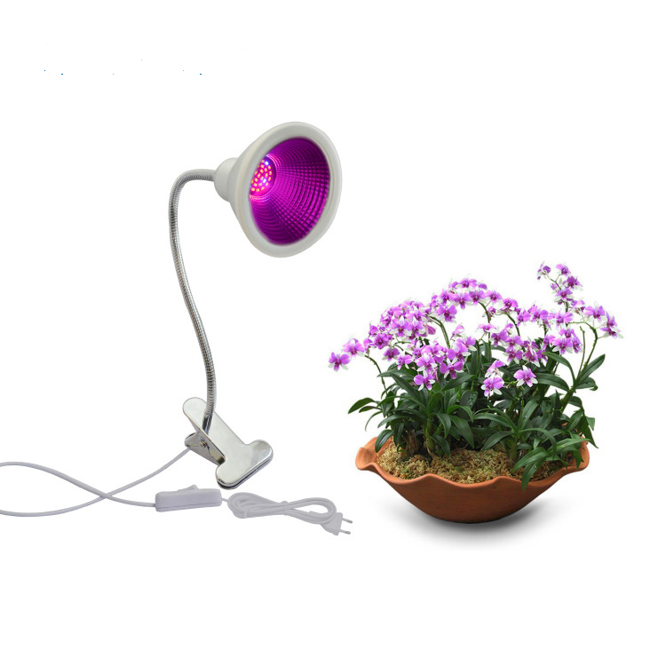 12W Garden Greenhouse Full Spectrum LED Grow Light Single-head Clamp Plants Growth Lamp Flexible Gooseneck Desk Light