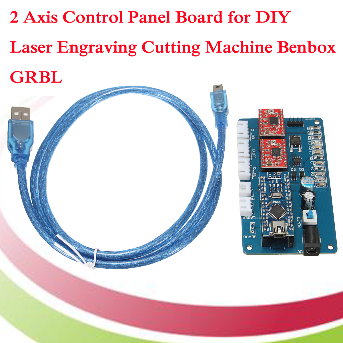 2 Axis GRBL Control Panel Board For DIY Laser Engraving Machine Benbox USB Stepper Driver Board