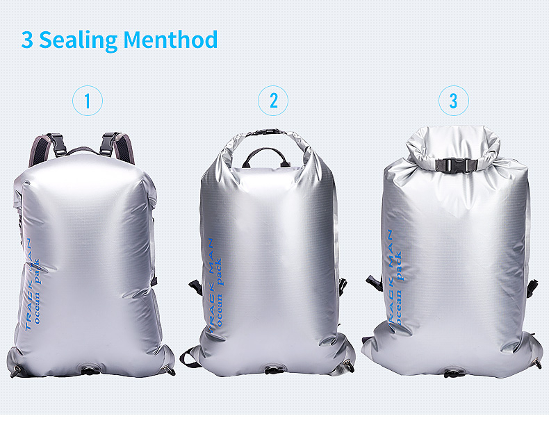 Trackman TM8601 Outdoor PVC Waterproof Bag Portable Travel Diving Dry Bags 35L Backpack