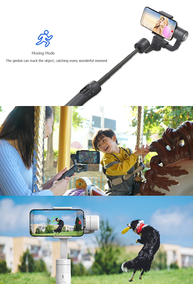 Feiyu Tech Vimble 2 3-Axis Brushless Handheld Steady Gimbal Extension Rod for 4-5.5 Inch Smart Phone - Photo: 3