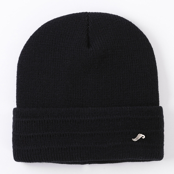 Mens Winter Warm Solid Knitted Adjustable Beanie Hat
