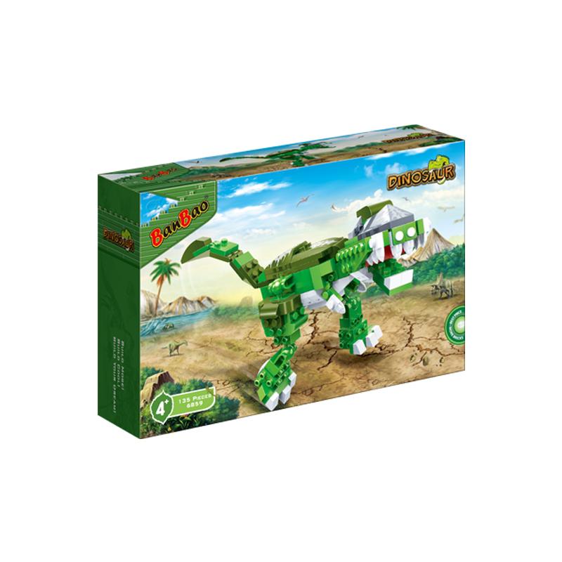 BanBao Tyrannosaur Jurassic Dinosaur World Park Animal Blocks Toys Educational Building Bricks Toys