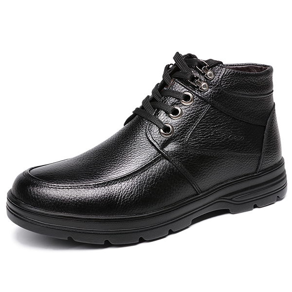 Comfy Men Casual Business Soft Lining Leather Ankle Boots